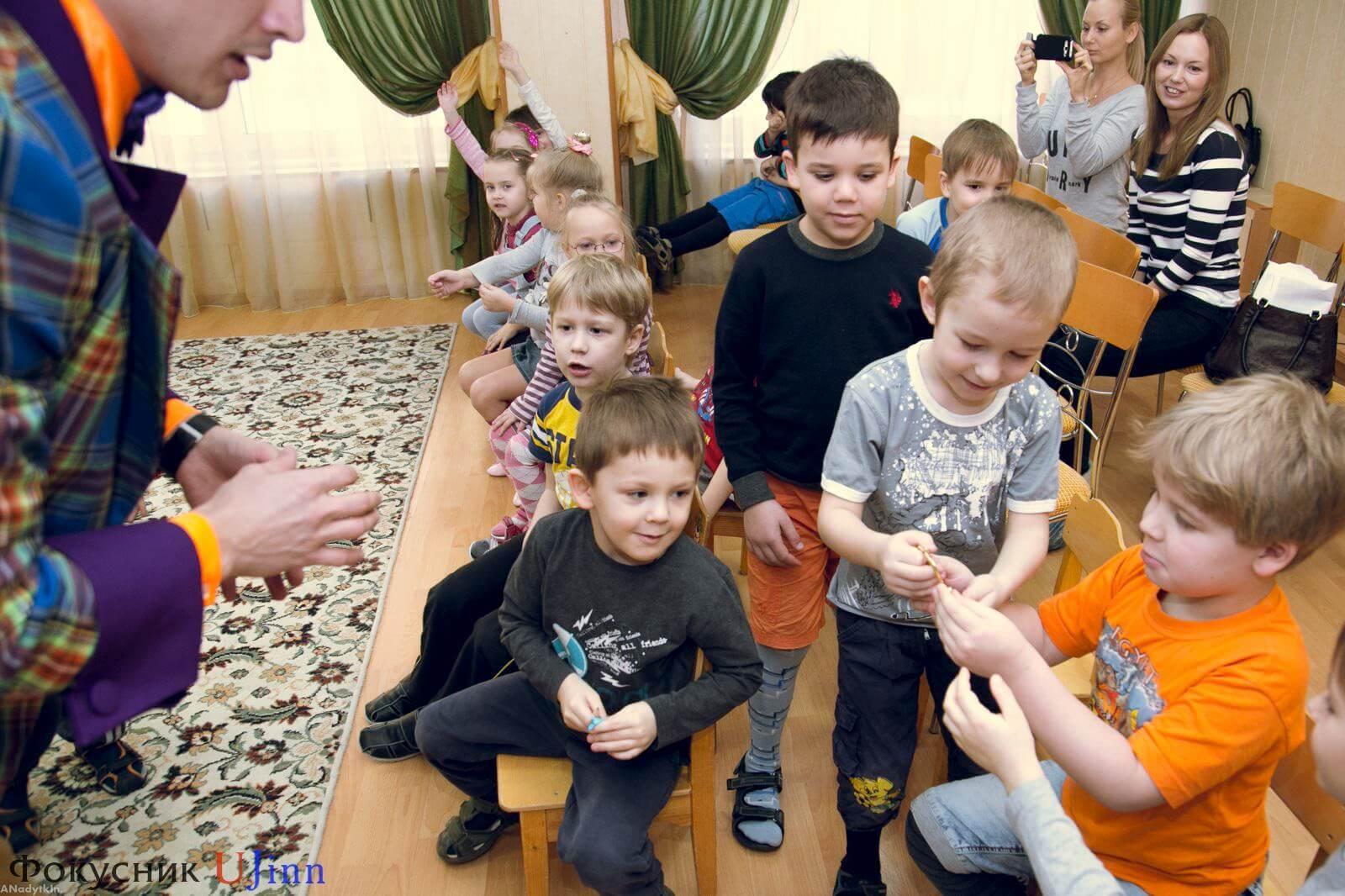 Фокусник Юджинн в детском саду 7
