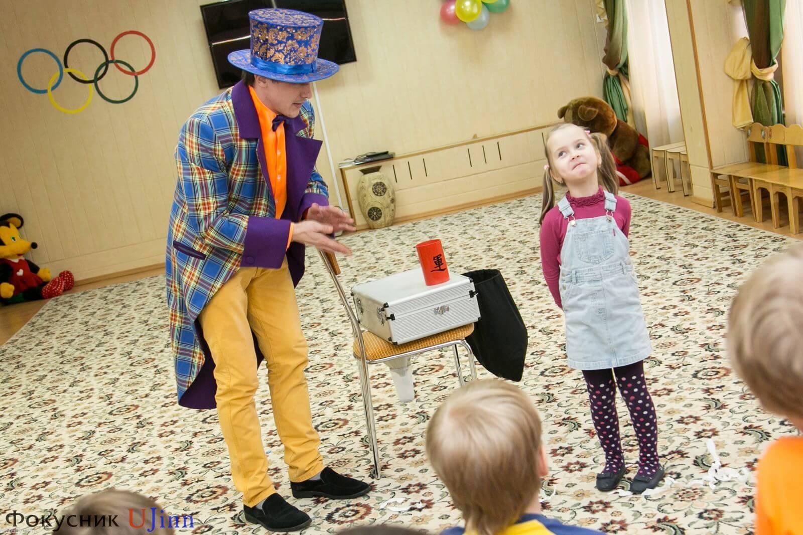 Фокусник Юджинн в детском саду 10