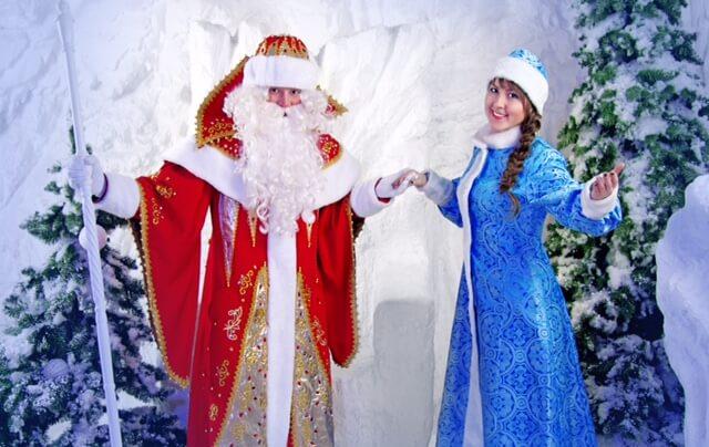 Дед Мороз Иллюзионист и Снегурочка